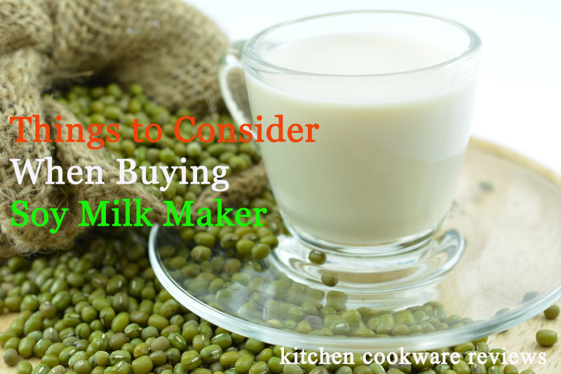 Things to Consider When Buying best soy milk maker