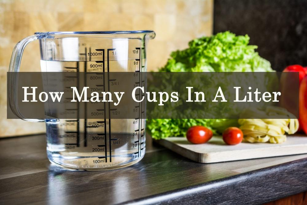 how many cups in a liter